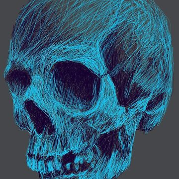 Scribbled Skull  by Forbesmo