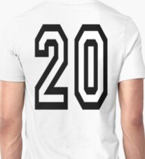 20, TEAM SPORTS, NUMBER 20, TWENTY, TWENTIETH, Competition,  T-Shirt