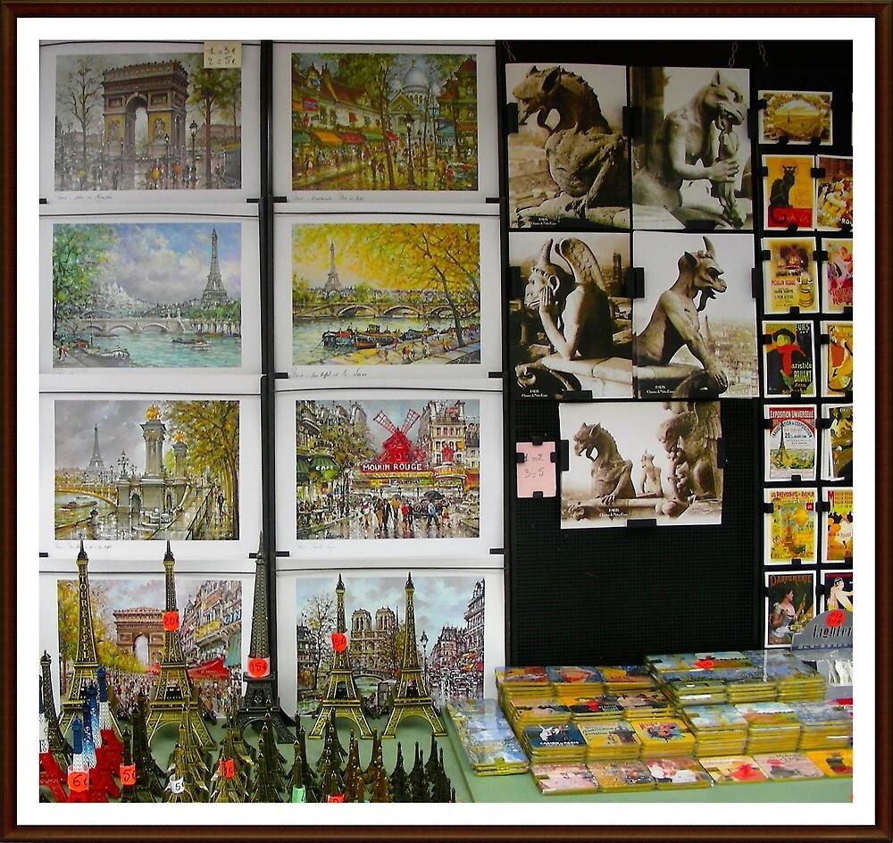 Kiosco. Venta de revistas y recuerdos.             Paris. by cieloverde