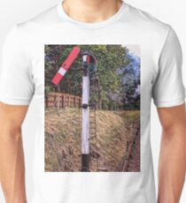 Signal on the North Norfolk Railway Unisex T-Shirt