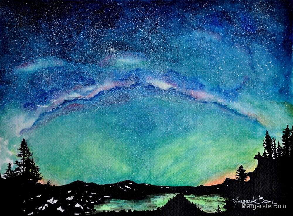 Milkyway watercolor painting by Margarete Bom