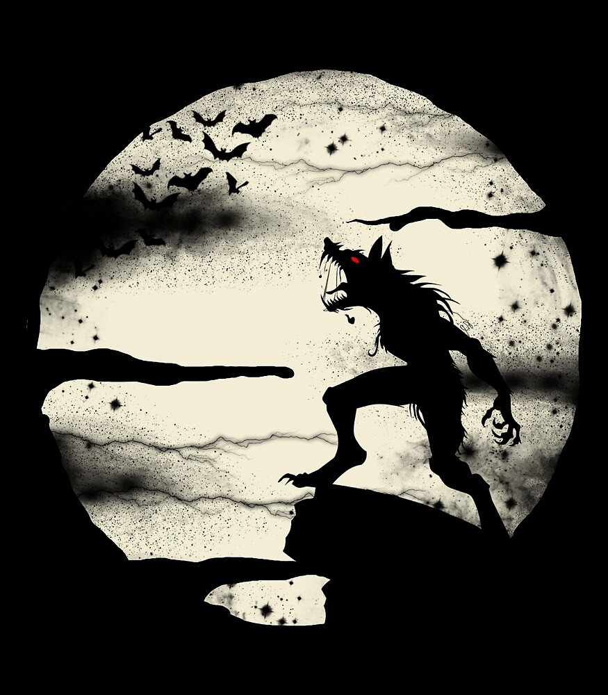 Werewolf With The Full Moon by blackboxshop