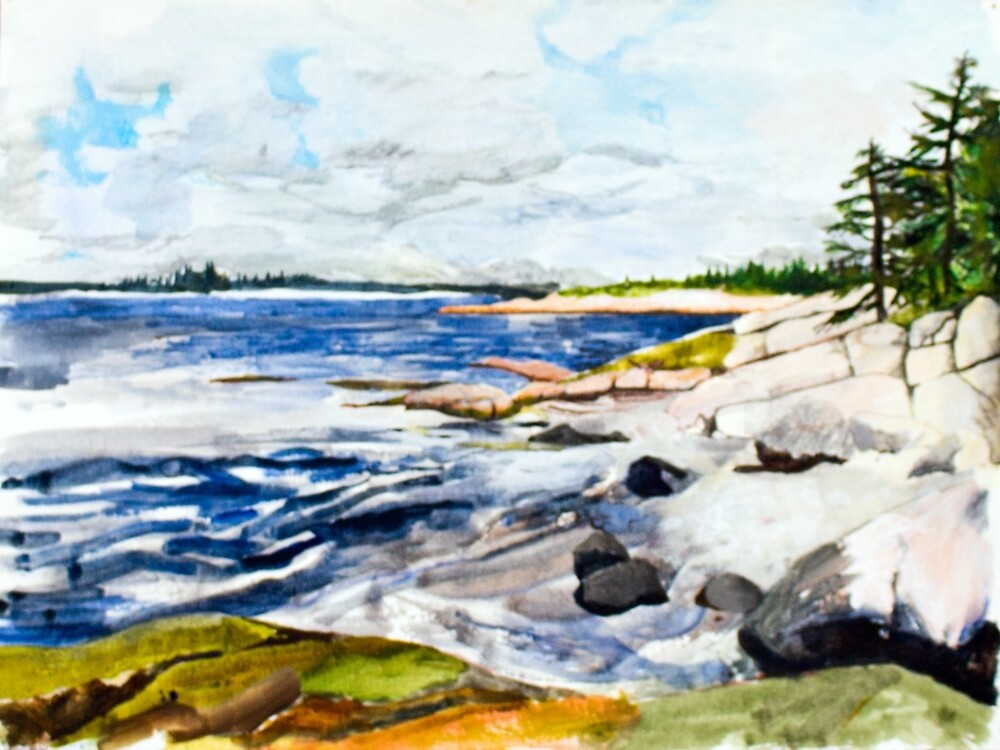 island coastline 1 by illustrationjen