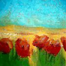 POPPY FLOWERS LANDSCAPE by CyraCancel