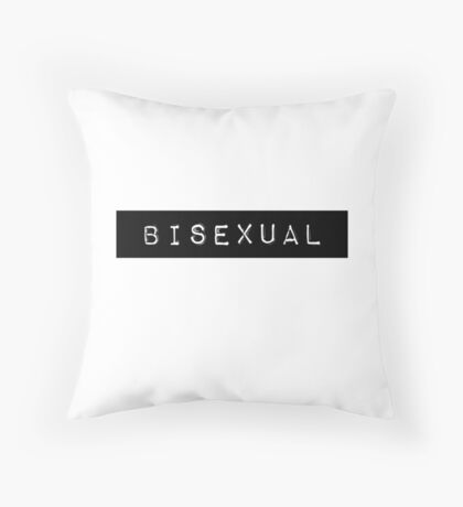 Labeled: Bisexual Throw Pillow