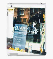 Amsterdam cat in restaurant window iPad Case/Skin