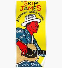 Skip James Blues Folk Art Poster