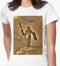 Inca King Huayna Capac Appeals To The Sun God Women's Fitted T-Shirt