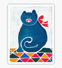 Cat with a red bow Sticker