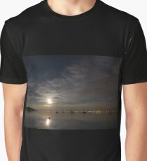 Moonrise over Lake Constance, Germany Graphic T-Shirt