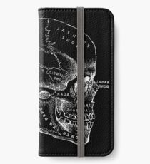 Vintage Anatomy: Skull  iPhone Wallet