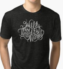 Wibbly Wobbly White Tri-blend T-Shirt