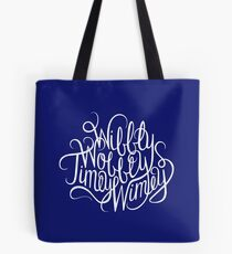 Wibbly Wobbly White Tote Bag