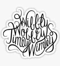 Wibbly Wobbly White Sticker
