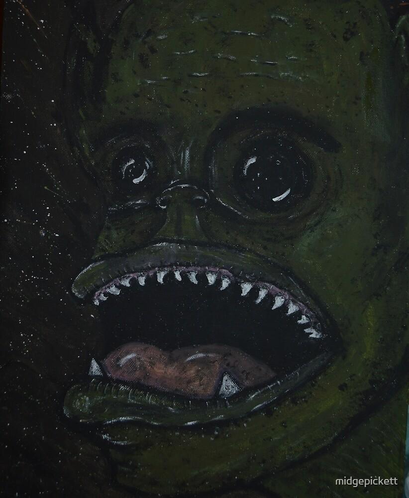 Gaping Goblin Guy by midgepickett