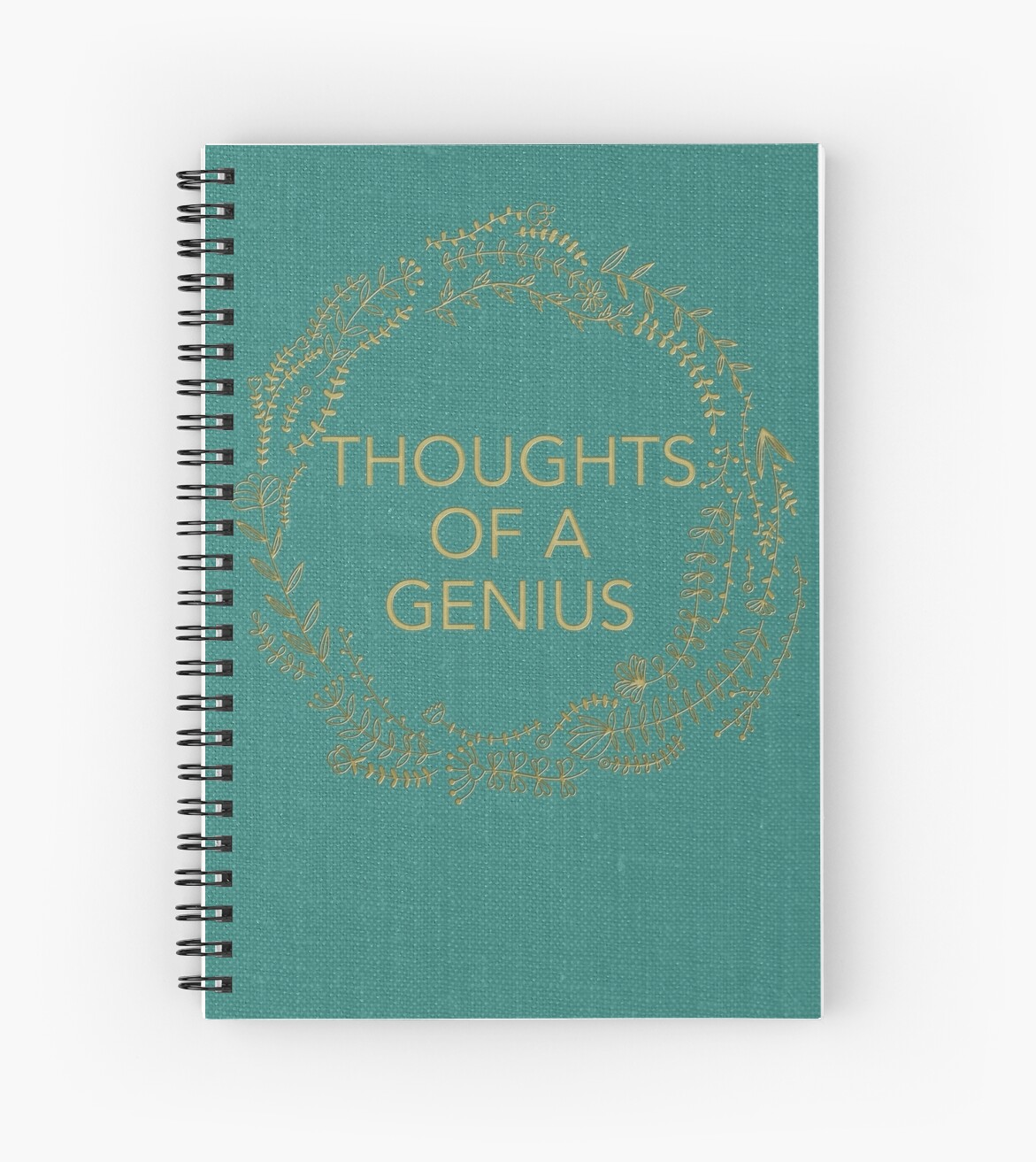 Thoughts Of A Genius Notebook by badwordsstudio