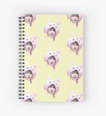Jin Bunny Hat | BTS Spiral Notebook