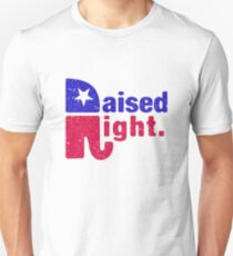 Raised Right - Republican Elephant Unisex T-Shirt