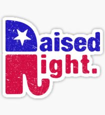 Raised Right - Republican Elephant Sticker