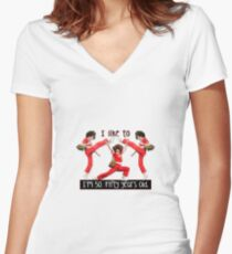 I'm 50 - Fifty Years Old Women's Fitted V-Neck T-Shirt