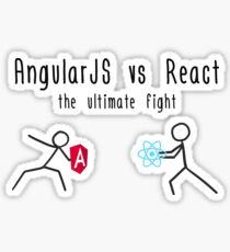 AngularJS vs React Sticker