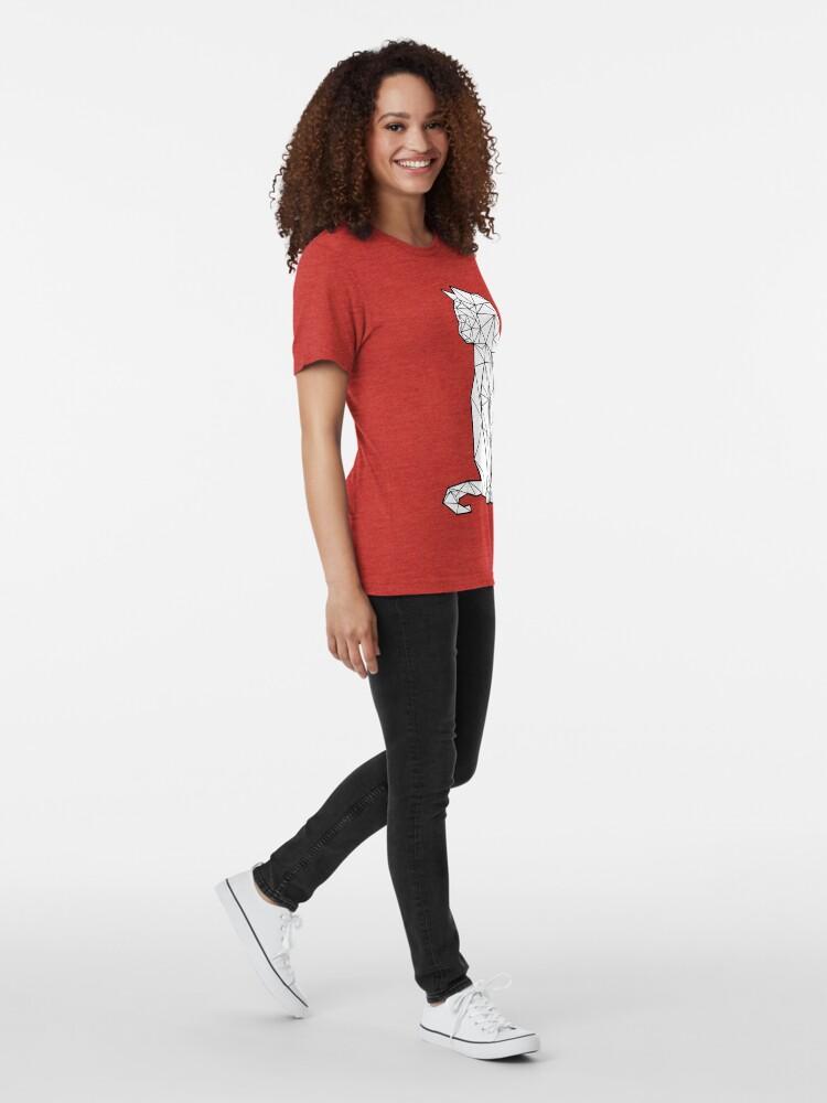 Vista alternativa de Camiseta de tejido mixto Gato geométrico