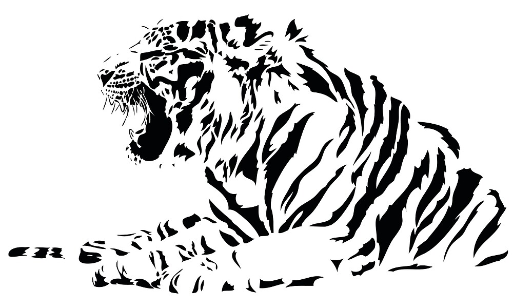 Black & white tiger by Arsefish