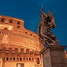 Blue hours at Castel Sant'Angelo by Roberto Bettacchi