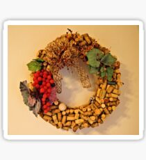 Cork Wreath Sticker