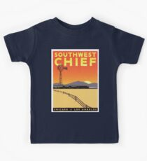Vintage poster - Southwest Chief Kids Tee
