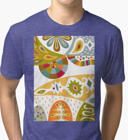 Bohemian white Tri-blend T-Shirt
