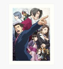 Ace Attorney Poster Art Print