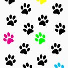 Random Colorful Cat Paws 001 by ValeriesGallery