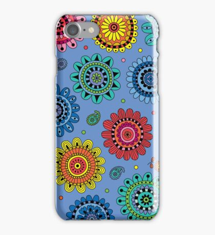 Flowers of Desire blue iPhone Case/Skin