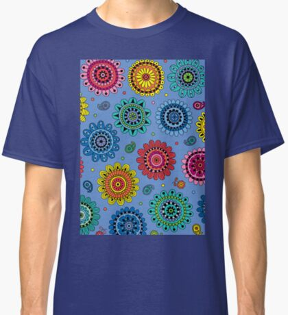 Flowers of Desire blue Classic T-Shirt