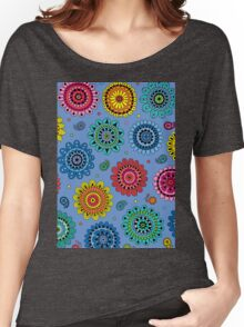 Flowers of Desire blue Women's Relaxed Fit T-Shirt