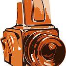 Medium Format 6x6 Camera Design in Orange by strayfoto