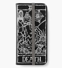 Death Tarot Card Print  iPhone Wallet