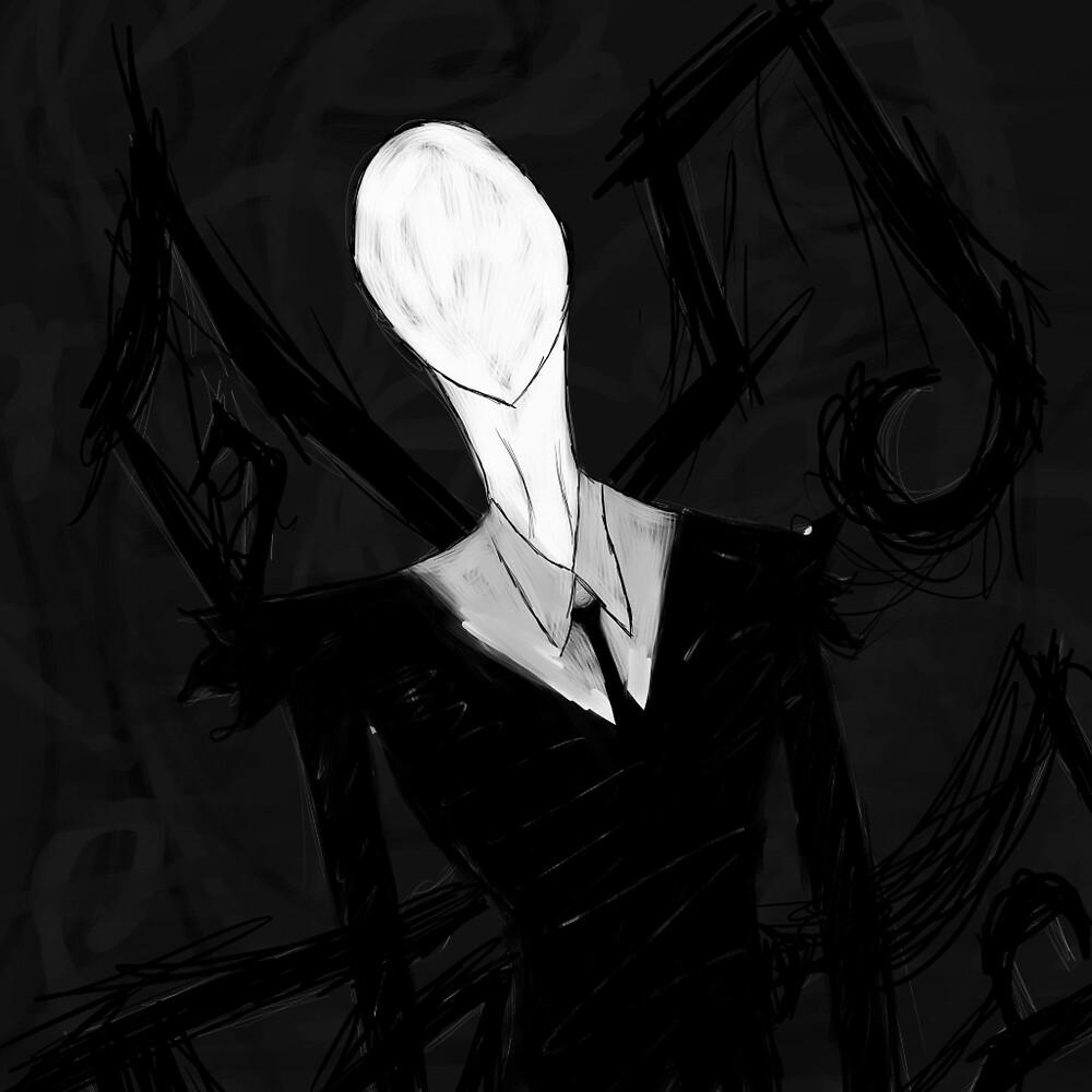 Slender Man  by combefairy
