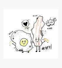 BFF eggs and bacon  Photographic Print
