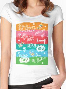 Woo Hoo Words Women's Fitted Scoop T-Shirt