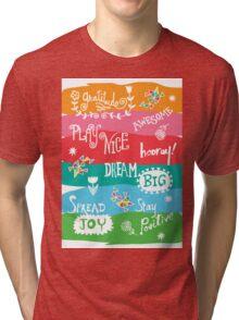 Woo Hoo Words Tri-blend T-Shirt
