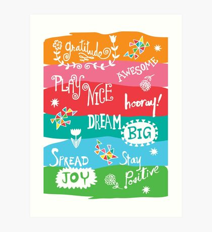 Woo Hoo Words Art Print