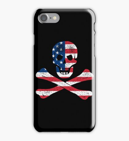 Skull and Bones American Flag Edition iPhone Case/Skin