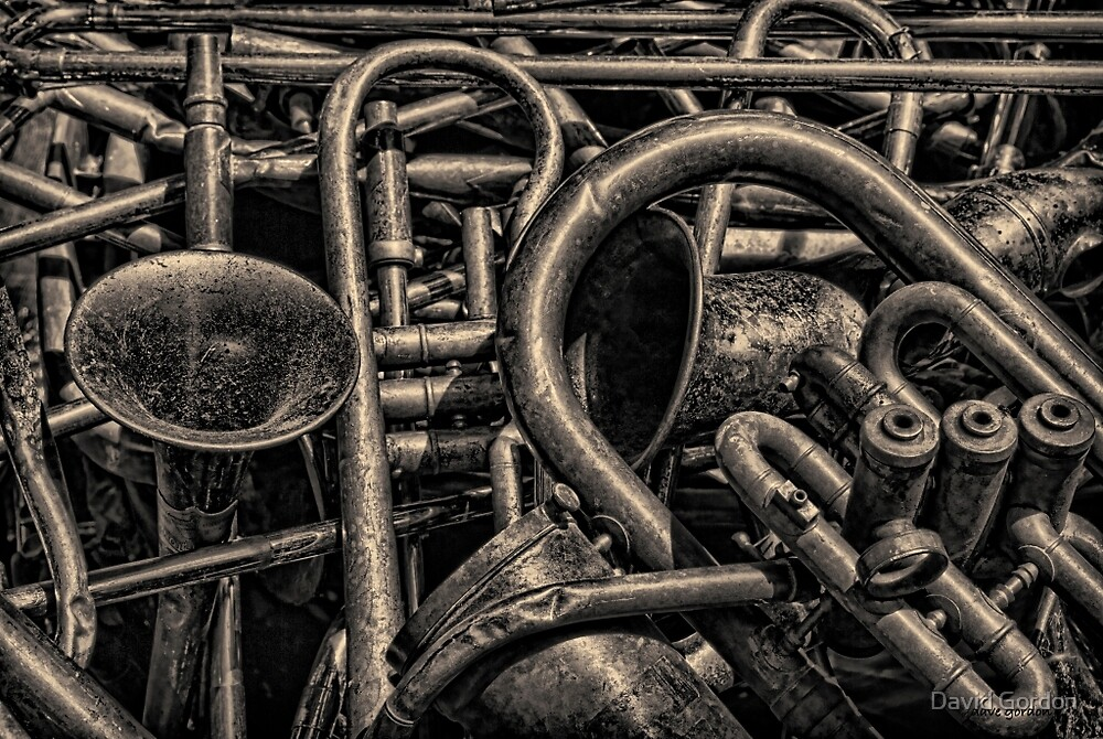 Old Brass Musical Instruments Toned by David Gordon