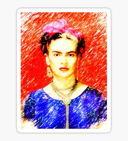 Looking for Frida Kahlo... Sticker