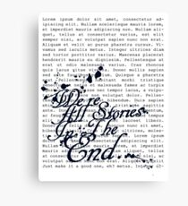 We're All Stories Canvas Print