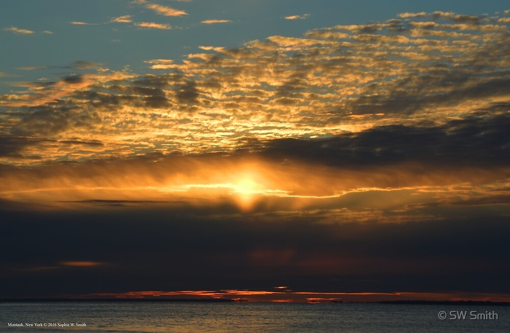 Electrified Sunset | Monatuk Point, New York by © Sophie W. Smith