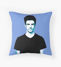 Grant Gustin Blue Tinge Throw Pillow