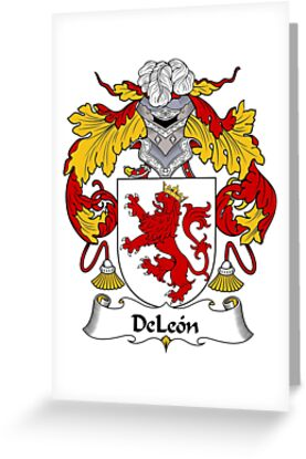 DeLeon Coat of Arms/Family Crest by William Martin